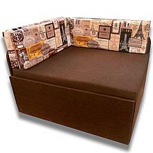 Детский Диван Кубик (Принт коричневый) малютка кровать