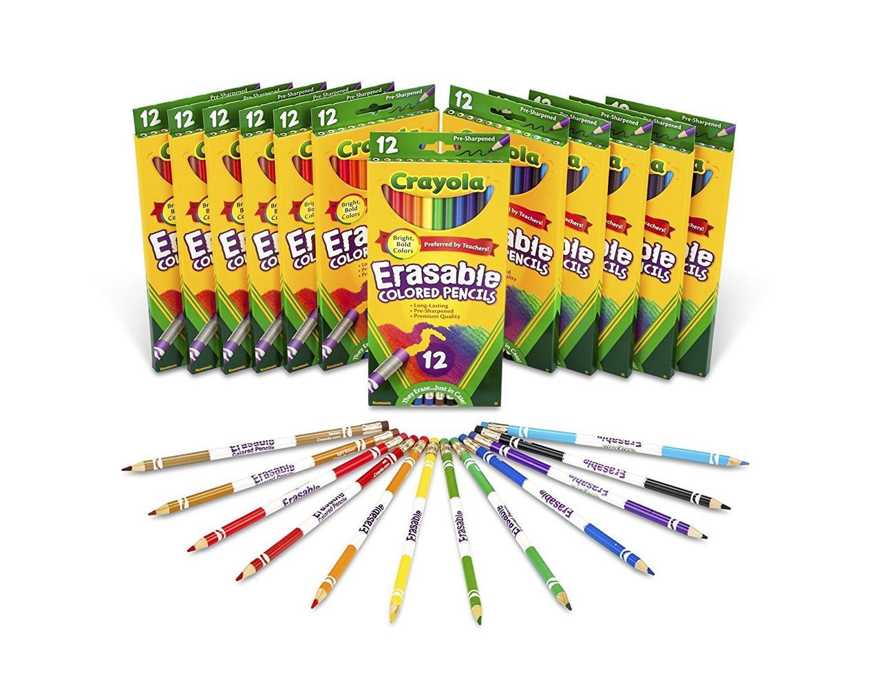 Карандаши цветные стирающиеся Крайола Crayola
