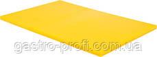 Доска разделочная 600x400x(H)20 мм желтого цвета YatoGastro YG-02182