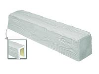 Балка потолочная декоративная  Рустик EQ 004 (2м) classic белая 19х17, лепной декор из полиуретана.