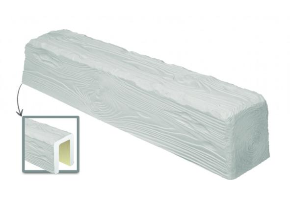 Балка потолочная декоративная  Рустик EQ 006 (3м) classic белая 12х12, лепной декор из полиуретана.