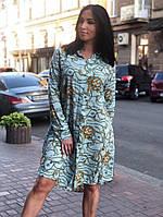 Платье-рубашка женское больших размеров, фото 1