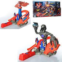 Трек копия Хот Вил Hot Wheel Атака Дракона и Робота гиганта, трек - запуск с драконом и роботом, 9988-6