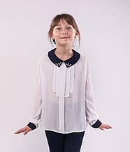 Блузка школьная белая  для девочки