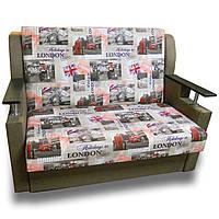 Диван кровать Марта 110см (Лондон бок шоколад). Детский диван с нишей для белья