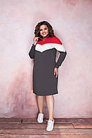 Стильное женское платье-туника (норма и батал)