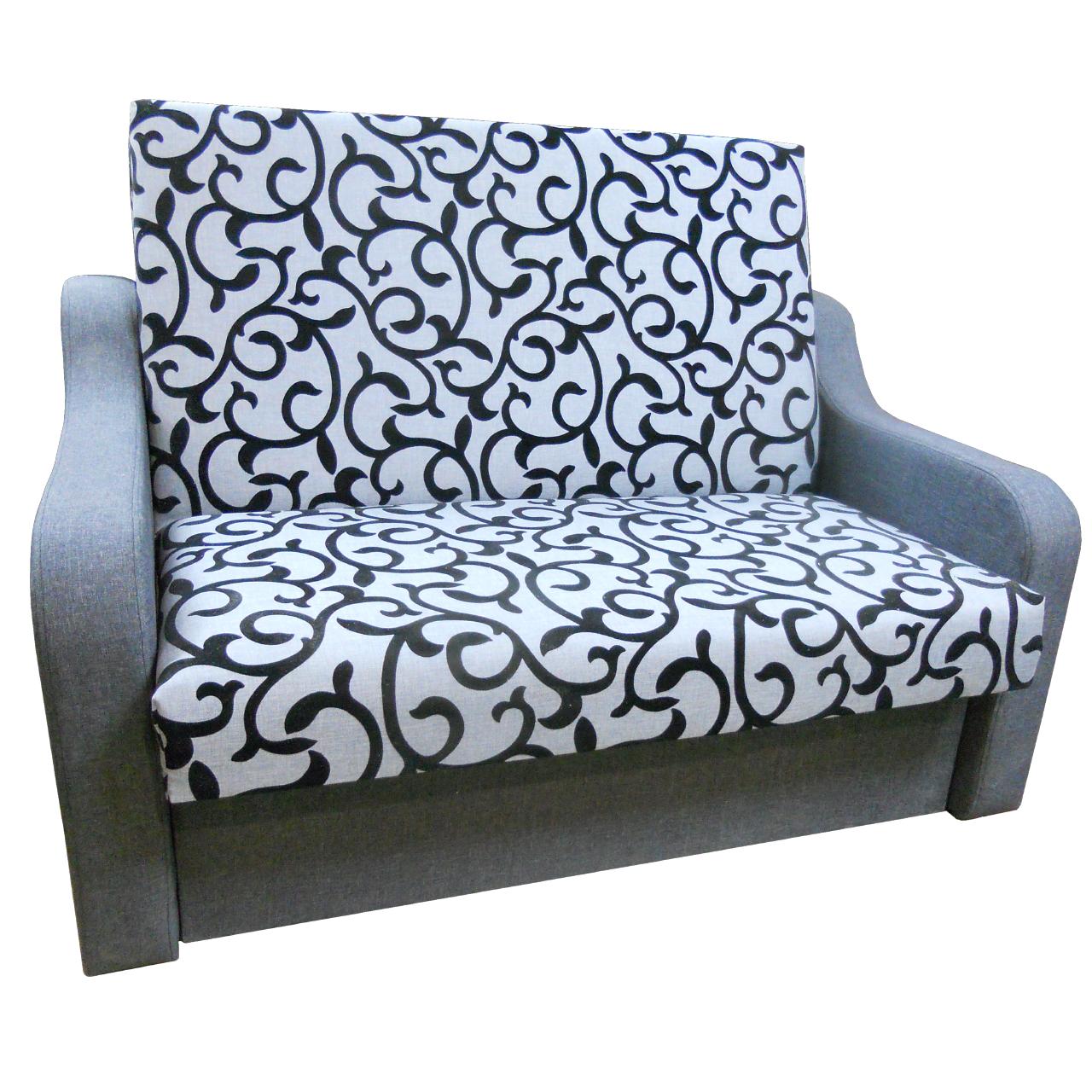 Диван Американка (Вензель серый) Детский диван с нишей для белья