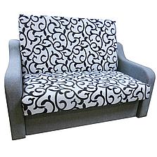Диван Американка (Вензель серый) Детский диван с нишей для белья, фото 2