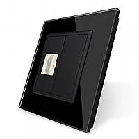 Розетка HDMI Livolo черный стекло (VL-C791HD-12), фото 1