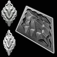 """Форма """"Титан №1"""" для декоративных 3D панелей из гипса"""