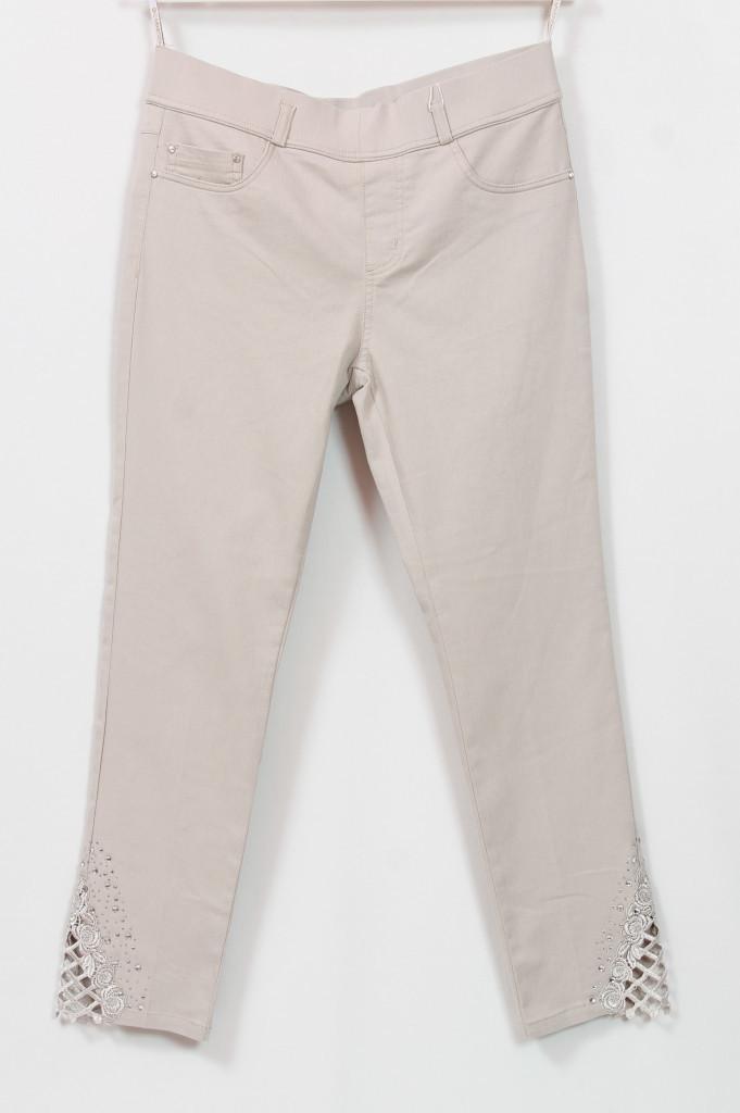 Турецкие летние бежевые джинсы, 48-54
