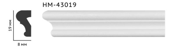 Молдинг для стен, гладкий, Classic Home HM-43019 , лепной декор из полиуретана