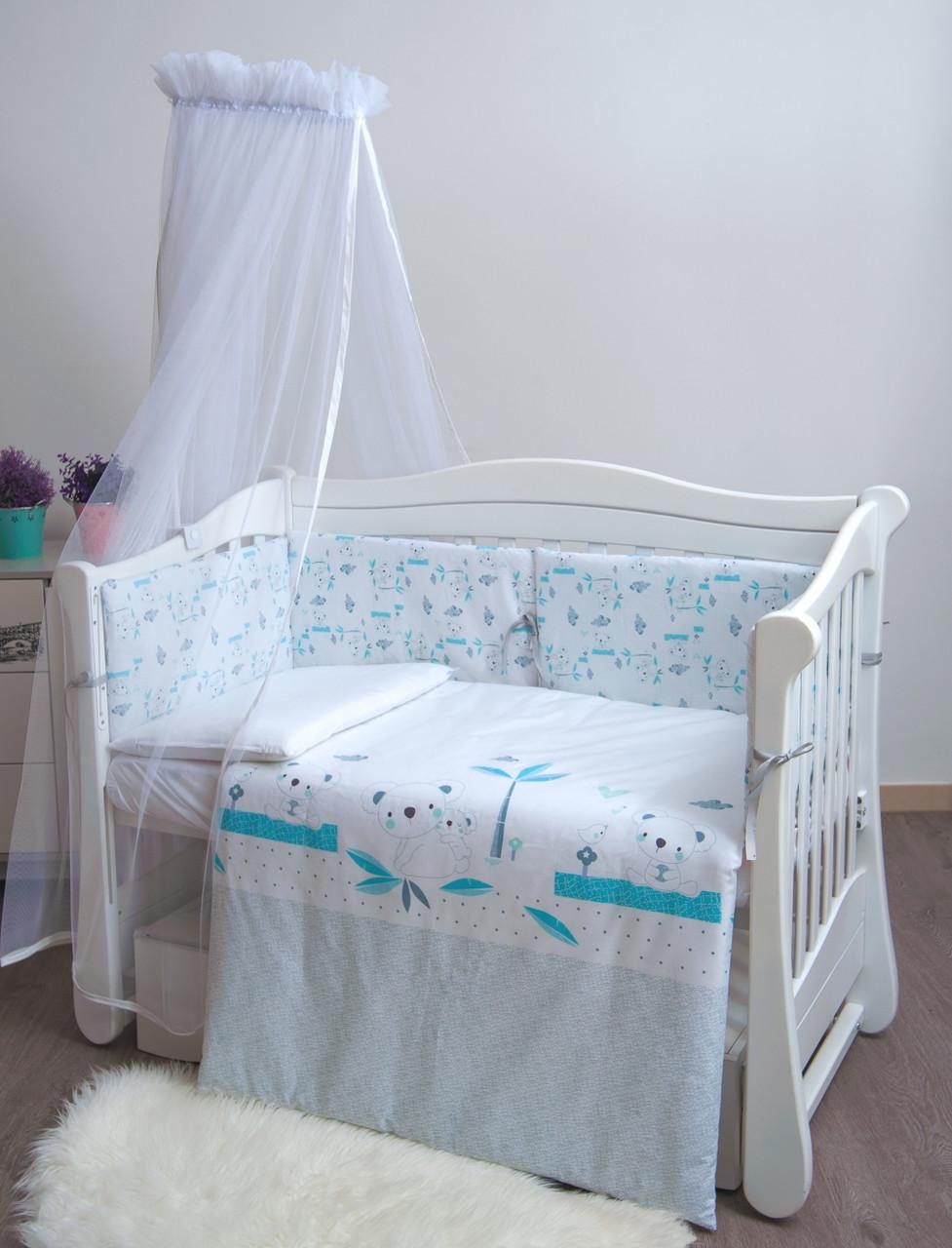 Детская постель Twins Eco Line New 6 элементов E-024 Koala mint (Постіль E-024)