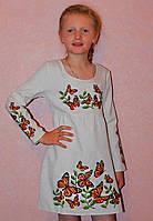 Нарядное платье из льна