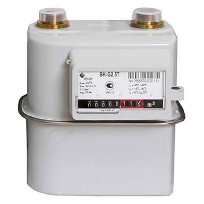 Газовый Счётчик Мембранного Типа Elster BKТ G-2,5 Узкий