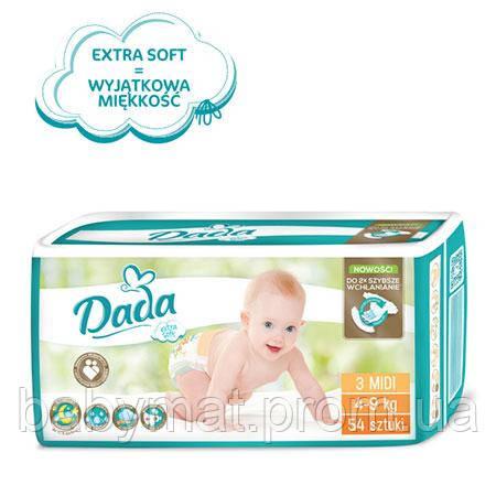 Подгузники DADA Extra Soft  р.3 (4-9 кг) 54 шт