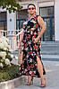 Длинное женское платье под пояс 46-48, 50-52, 54-56, фото 3