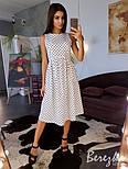 Женское хлопковое платье в горошек (в расцветках), фото 5
