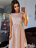 Женское хлопковое платье в горошек (в расцветках), фото 2