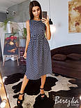Женское хлопковое платье в горошек (в расцветках), фото 7