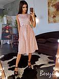 Женское хлопковое платье в горошек (в расцветках), фото 9