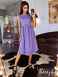 Женское хлопковое платье в горошек (в расцветках), фото 8