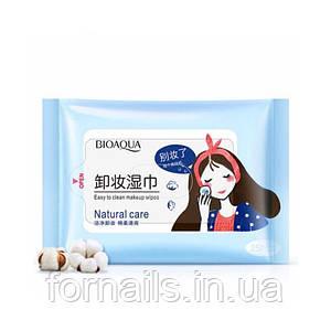 Влажные салфетки для снятия макияжа, Bioaqua Natural Care 25 шт