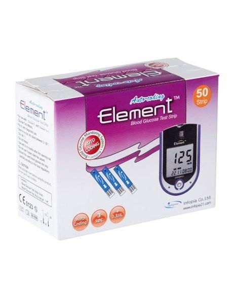 Тест-полоски на глюкозу Element 100 шт.