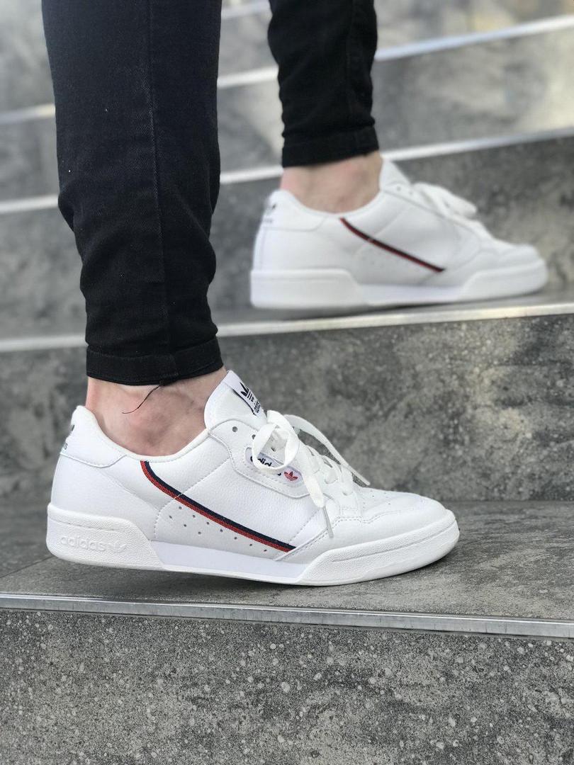 Мужские кроссовки adidas Continental 80 (Адидас Континенталь 80) Белые