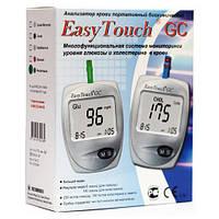 Аппарат для измерения уровня глюкозы и  холестерина в крови / Биохимический анализатор Изи Тач (EasyTouch GC)