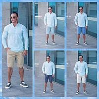 Мужской  летний комплект  шорты Томми  5 цветов  +  мятная летняя  рубашка, фото 1