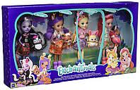 Набор из 4 кукол Enchantimals Счастливые подружки с их питомцами (Скунс, Оленица, Кролик, Фламинго), фото 2