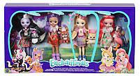Набор из 4 кукол Enchantimals Счастливые подружки с их питомцами (Скунс, Оленица, Кролик, Фламинго), фото 3