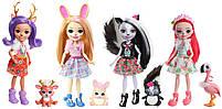 Набор из 4 кукол Enchantimals Счастливые подружки с их питомцами (Скунс, Оленица, Кролик, Фламинго), фото 5