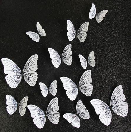 Набор декоративных бабочек - 12шт.