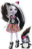 Набор из 4 кукол Enchantimals Счастливые подружки с их питомцами (Скунс, Оленица, Кролик, Фламинго), фото 9