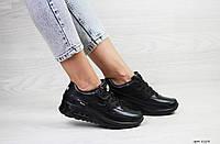 Кроссовки Nike Air Max 90 женские, черные, в стиле Найк Аир Макс 90. Натуральная кожа, код SD-8108