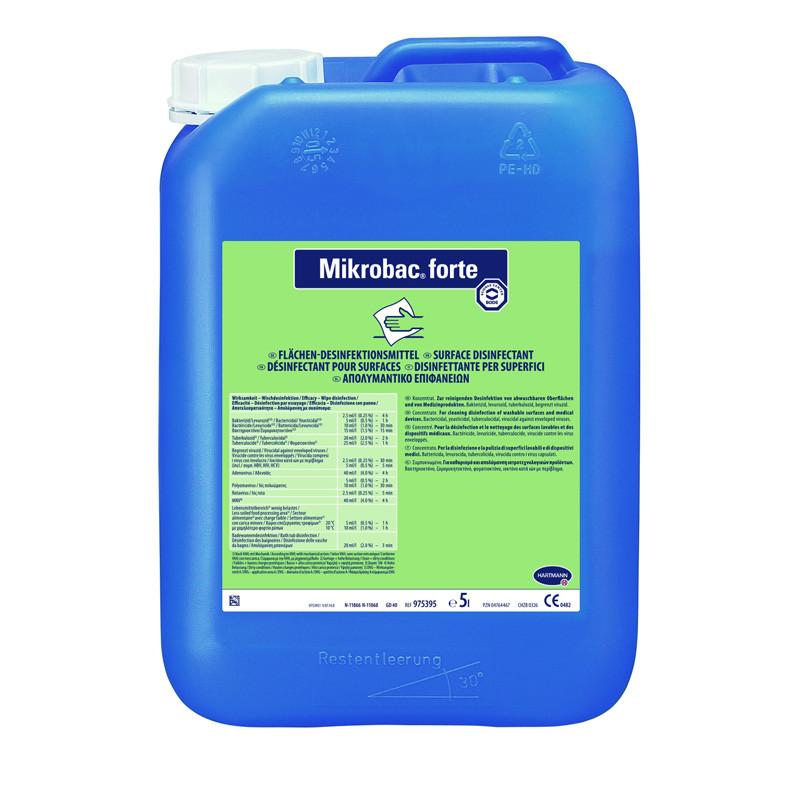 Микробак форте (Bode Chemie Mikrobac forte) - средство для дезинфекции и очистки поверхностей и инстр., 5 л