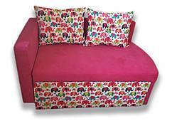 Диван детский Шпех 70см малыш раскладной (Слоники + розовый). Диванчик со спальным местом 2 метра