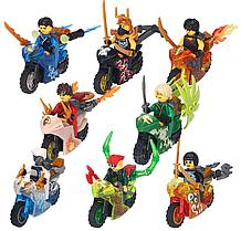Набор Лего Ниндзяго на мотоцыклах мини фигурки Аналог Конструктор Игрушки