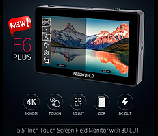 "FeelWorld 5.5"" F6 PLUS Full HD HDMI On-Camera Touchscreen Monitor with 4K Support (FEF6PLUS)"