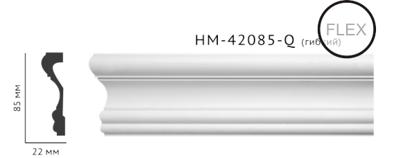 Молдинг для стен, гладкий, Classic Home HM-42085Q , лепной декор из полиуретана