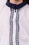 Детская блузка школьная белая для девочки с кружевной планкой, фото 6