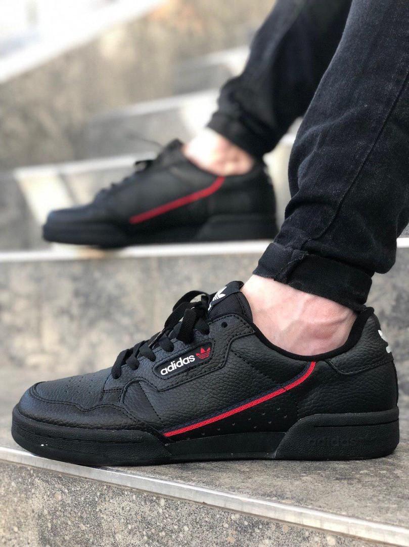 Чоловічі кросівки adidas Continental 80 (Адідас Континенталь 80) Чорні