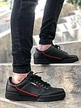Мужские кроссовки adidas Continental 80 (Адидас Континенталь 80) Черные, фото 3