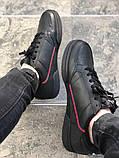 Чоловічі кросівки adidas Continental 80 (Адідас Континенталь 80) Чорні, фото 4
