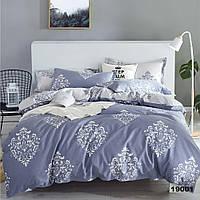 Серое двуспальное постельное белье Viluta с натуральной ткани ранфорс