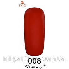 Гель-лак F.O.X. Waterway № 008 бордо 6 ml