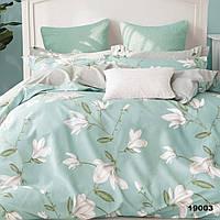 Женское евро постельное белье с цветами Viluta ранфорс