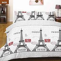 Евро постельное белье для дома Viluta ранфорс с эйфелевой башней